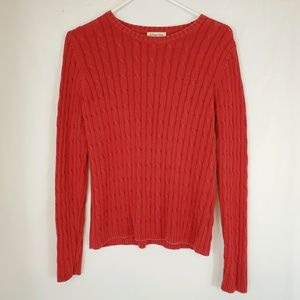 St. John's Bay Pullover Sweater Red Sz S